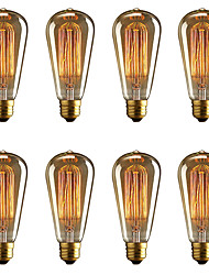 cheap -BRELONG® 8pcs 40W E26 / E27 Yellow 2000-2200k Decorative Incandescent Vintage Edison Light Bulb 220-240V