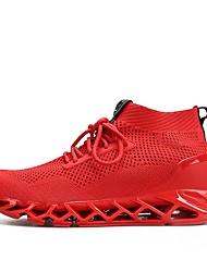 Недорогие -Муж. Ткань Лето Удобная обувь Спортивная обувь Беговая обувь Черный / Красный / Черный / Красный