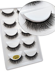 cheap -Eye 1 Natural Curly Smokey Makeup Cateye Makeup Fairy Makeup Party Makeup Halloween Makeup Daily Makeup Full Strip Lashes Make Up