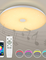 abordables -1pc 72W 720 LED Bocina Bluetooth / Control remoto / Regulable Luces de Techo Blanco Cálido / Blanco Fresco / Blanco Natural 110-240V Sala
