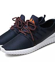 economico -Per uomo Scarpe Maglia traspirante Primavera Autunno Comoda Sneakers per Sportivo Nero Blu scuro Grigio