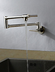 abordables -Robinet de Cuisine - Moderne Nickel brossé Débit Normal Montage mural