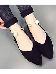 Недорогие -Жен. Обувь Нубук Осень Удобная обувь На плокой подошве На плоской подошве Черный / Военно-зеленный / Розовый