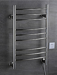 cheap -Electric Warmer Towel Bars Heated Thermostatic Towel Rack Full Welding 304# Stainless Steel Rustproof Mirror Polished Drying Rack W9