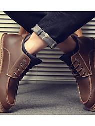 povoljno -Muškarci Cipele Koža Zima Vojničke čizme Čizme Čizme gležnjače / do gležnja Crn / Braon