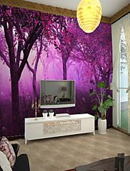 Недорогие -фиолетовое дерево большие настенные покрытия настенные обои, подходящие для офиса спальни пейзаж