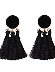 cheap -Tassel Drop Earrings / Hoop Earrings - Tassel, European, Fashion Blue / Light Pink / skin For Daily / Festival