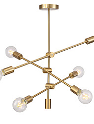 cheap -OYLYW 6-Light Sputnik Chandelier Ambient Light - Mini Style, Adjustable, 110-120V / 220-240V Bulb Not Included / 15-20㎡ / E26 / E27