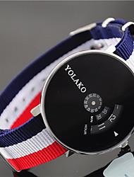 abordables -Mujer Reloj de Pulsera Chino Reloj Casual Nailon Banda Moda / Colorido Azul / Rojo / Verde