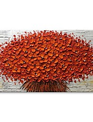cheap -STYLEDECOR Modern Hand Painted Abstract A Bouquet of Red Flowers Oil Painting on Canvas for Wall Art