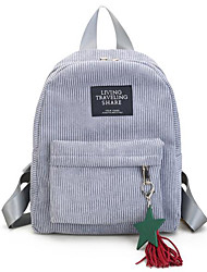 Недорогие -Жен. Мешки Терилен рюкзак Молнии Черный / Розовый / Серый