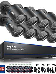 economico -sannce @ 16ch 720p telecamere di sicurezza cctv sistema senza disco rigido