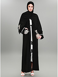cheap -BENEVOGA Women's Sophisticated / Street chic Abaya - Crewels / Flocking / Floral Print, Embroidered / Jacquard