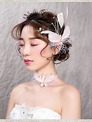 cheap -Net / Alloy Hair Clip with Lace-up / Flower 3 Pieces Wedding / Special Occasion Headpiece