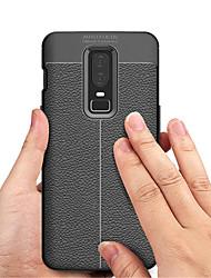 billiga -fodral Till OnePlus OnePlus 6 / OnePlus 5T Läderplastik Skal Enfärgad Mjukt TPU för OnePlus 6 / One Plus 5 / OnePlus 5T