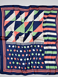 Недорогие -Жен. Классический Квадратная Искусственный шёлк, Контрастных цветов