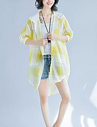 Недорогие -Жен. С кисточками Рубашка Винтаж Однотонный Черное и белое