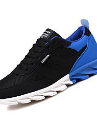 abordables -Homme Chaussures Tulle / Polyuréthane Automne Confort Chaussures d'Athlétisme Course à Pied Noir / blanc / Noir / Rouge / Noir / bleu.