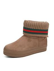 povoljno -Žene Cipele Tkanina Jesen zima Čizme za snijeg Čizme Ravna potpetica Okrugli Toe Čizme gležnjače / do gležnja za Vanjski Sive boje /
