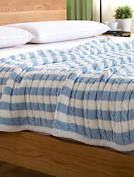 cheap -Coral fleece, Jacquard Striped Cotton / Polyester Blankets
