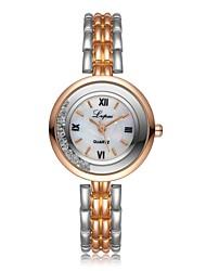 baratos -Mulheres Bracele Relógio Chinês Cronógrafo / Relógio Casual / imitação de diamante Lega Banda Luxo / Fashion Prata / Dourada / Um ano / SSUO LR626