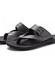 cheap -Men's Shoes Rubber Summer Comfort Sandals Black / Gray