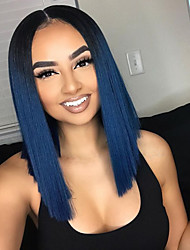 cheap -Remy Human Hair Lace Front Wig Wig Brazilian Hair Straight Short Bob 130% Density Women's Short Human Hair Lace Wig