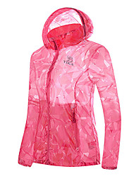 cheap -Women's Hiking Raincoat Outdoor Lightweight, Rain-Proof, UV resistant Top Waterproof Camping / Hiking / Caving / Travel