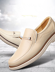 cheap -Men's Cowhide Winter Comfort Loafers & Slip-Ons White / Beige
