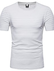 baratos -Homens Camiseta Básico Listrado