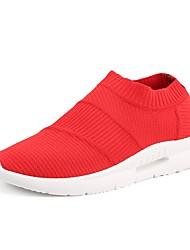 baratos -Homens sapatos Arrastão / Tule Verão Conforto / Solados com Luzes Tênis Branco / Preto / Vermelho