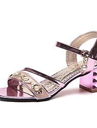 economico -Per donna Scarpe PU (Poliuretano) Estate Con cinghia / Cinturino alla caviglia Sandali Footing Heel di blocco Occhio di pernice Borchie