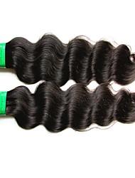 baratos -2 pacotes Cabelo Indiano / Onda de Corpo Ondulado Cabelo Virgem / Cabelo Remy Extensões de Cabelo Natural Tramas de cabelo humano Nova chegada / Venda imperdível / Para Mulheres Negras Côr Natural