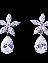 abordables -Femme Zircon Clips - Fleur Mode, Elégant Blanc Pour Mariage / Soirée