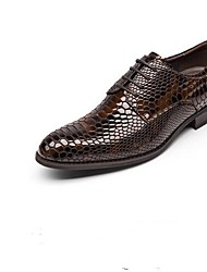 cheap -Men's Leather Winter Comfort Oxfords Black / Brown / Blue