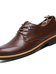 cheap -Men's Dress Shoes PU(Polyurethane) Winter Comfort Oxfords Black / Brown