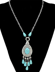 cheap -Women's Turquoise Pendant Necklace  -  Ethnic, Fashion Silver 34 cm Necklace For Daily, Street