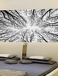 Недорогие -Декоративные наклейки на стены - 3D наклейки Пейзаж / Цветочные мотивы / ботанический Гостиная / Спальня