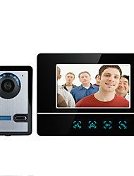 baratos -MOUNTAINONE SY811FA11 7 Inch Video Door Phone 7inch Mãos Livres 700 TV Line Interfone de Vídeo Um para Um