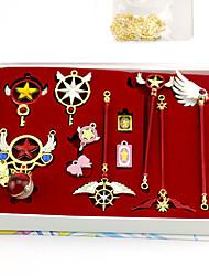 billiga -Mer accessoarer Inspirerad av Cardcaptor Sakura Sakura Kinomoto Animé Cosplay-tillbehör Dekorativa Halsband / Nyckelring Legering Halloweenkostymer