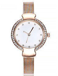 cheap -Women's Bracelet Watch Quartz Chronograph Imitation Diamond Alloy Band Analog Bangle Fashion Black / Silver / Rose Gold - Black Silver Rose Gold One Year Battery Life / SSUO LR626