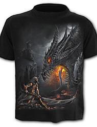 preiswerte -Herrn Einfarbig Tier - Übertrieben Street Schick T-shirt Druck