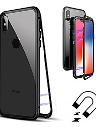 abordables -Funda Para Apple iPhone 8 / iPhone 8 Plus Flip / Transparente Funda de Cuerpo Entero Un Color Dura Vidrio Templado para iPhone X / iPhone