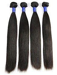 cheap -Mongolian Hair Straight Natural Color Hair Weaves / Extension / Human Hair Extensions Human Hair Weaves Life / Sexy Lady / Hot Sale