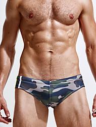 cheap -Men's Bottoms - Striped Camouflage Swim Trunk