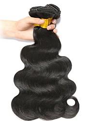 Недорогие -Бразильские волосы Волнистый Человека ткет Волосы / Накладки из натуральных волос Ткет человеческих волос Лучшее качество / Горячая