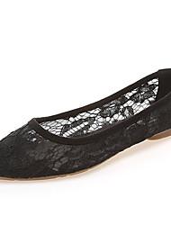 Недорогие -Жен. Обувь Полиуретан Лето Удобная обувь Мокасины и Свитер На плоской подошве Заостренный носок Черный / Бежевый / Серый