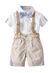 cheap -Toddler Boys' Solid Colored Short Sleeves Clothing Set