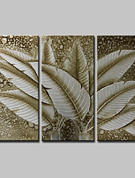 economico -Hang-Dipinto ad olio Dipinta a mano - Astratto Floreale / Botanical Modern Tela