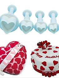 Недорогие -4шт любовь сердце плунжер резчик пресс-формы сахара